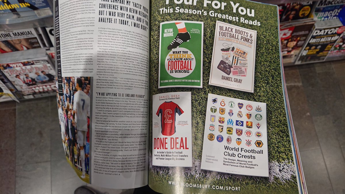Our book seen in the latest issue of @FourFourTwo.