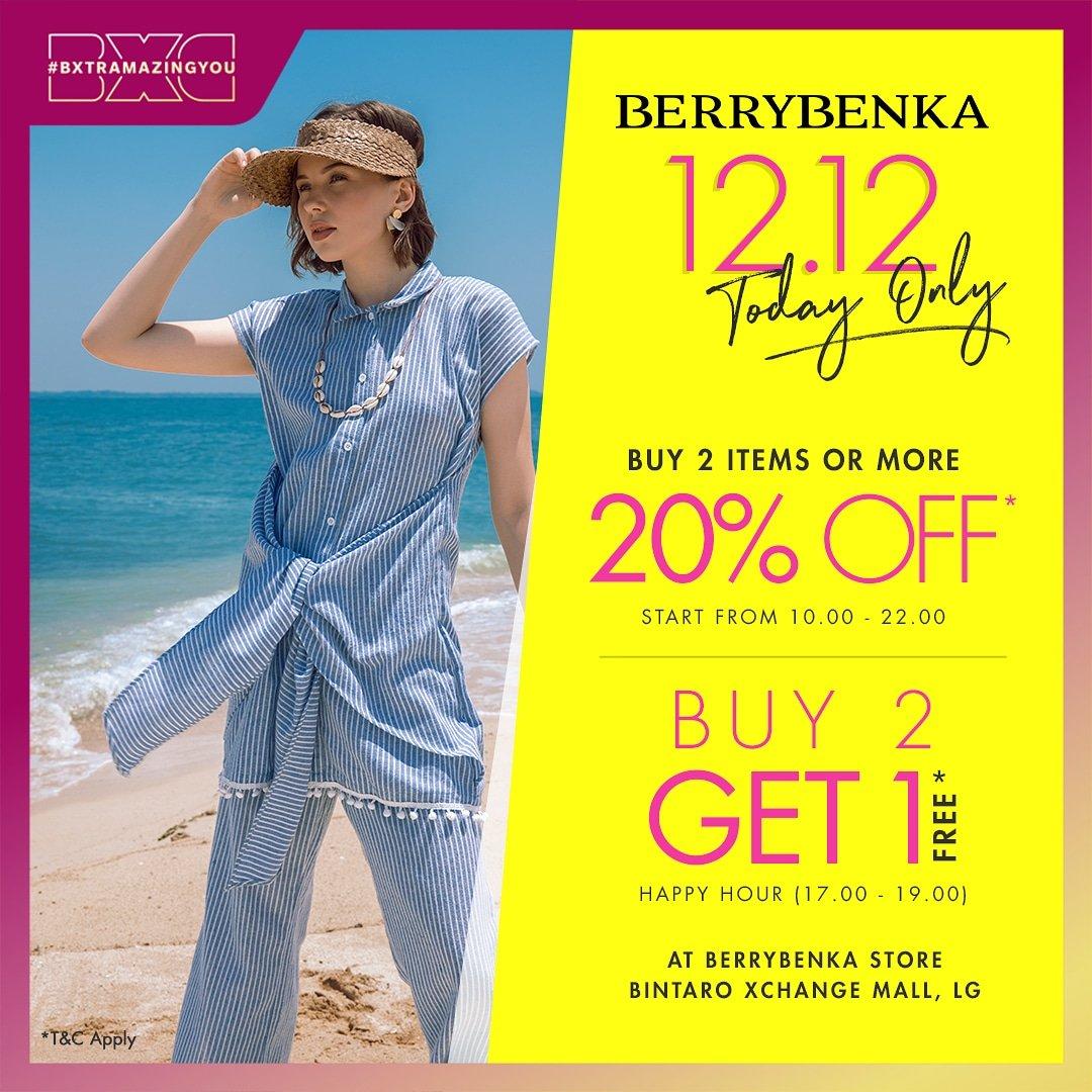Today Only! @Berrybenka 12.12 sale. Find them at Bintaro Jaya Xchangr Mall, Ground Floor. https://t.co/4fspsHY3OV