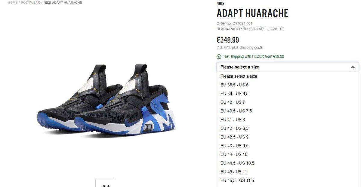 Sole Links On Twitter Ad Live Via Bstn Nike Adapt Huarache Racer Blue Https T Co Dbyzjjyt2z
