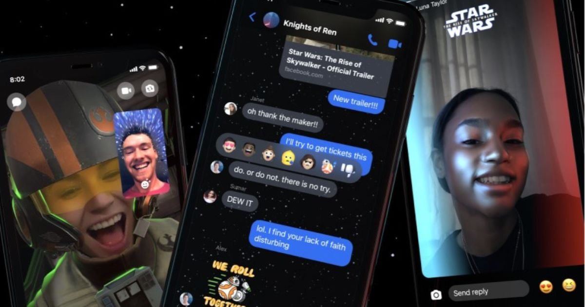 Even Facebook Messenger is getting in on the Star Wars hype