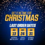 Image for the Tweet beginning: Get your online Christmas orders