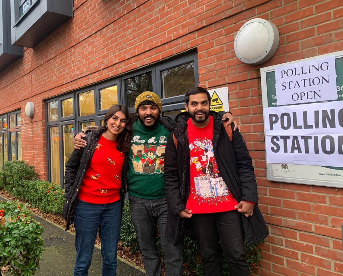 When all three of our work christmas parties are on polling day #votelabour #GE2109