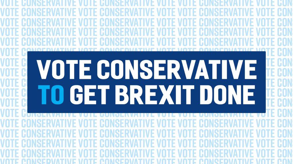 Let's get it done.#GetBrexitDone #VoteConservative2019