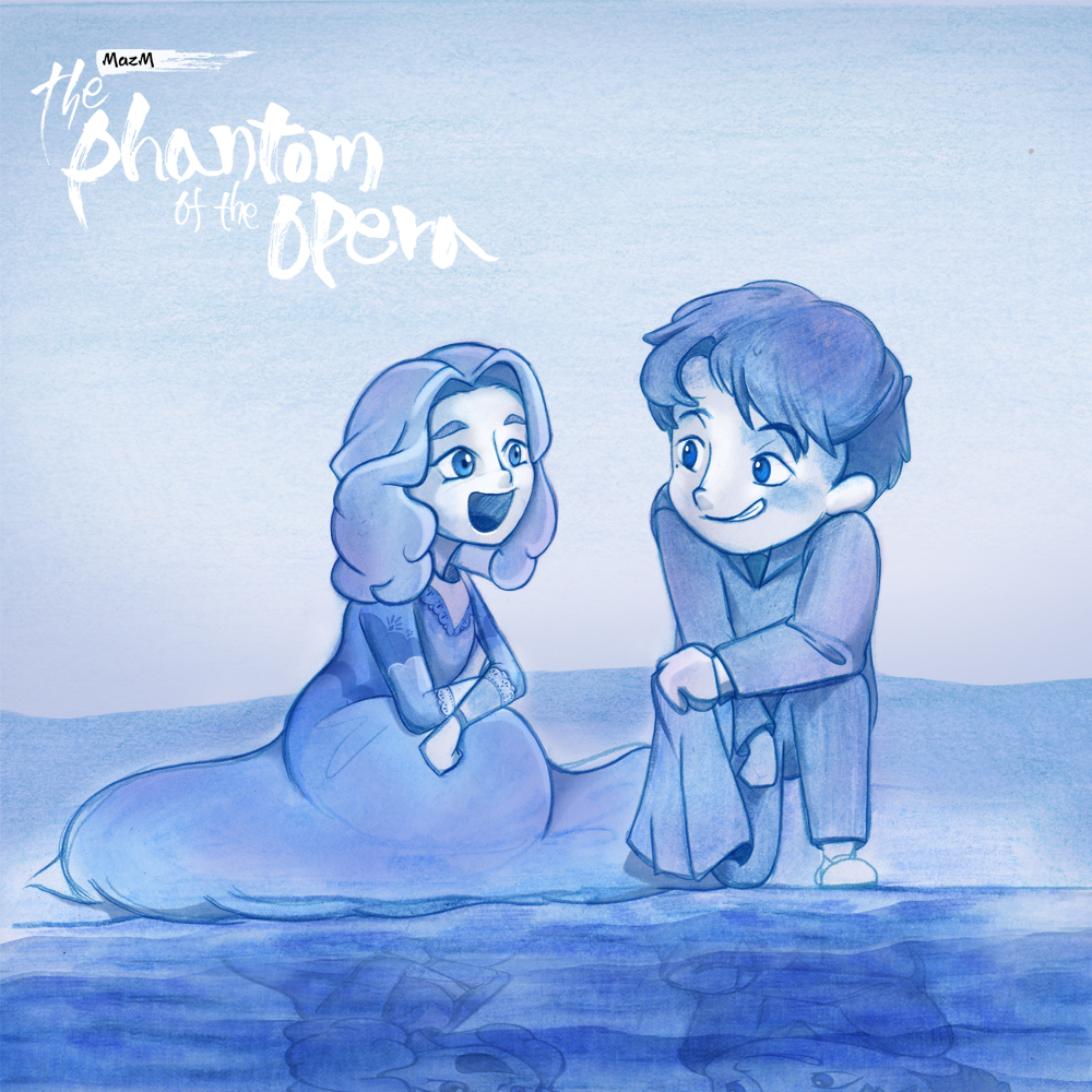 Let me introduce the picture from college marketing supporters😍 They expressed Raul and Christine's first meeting beautifully !  Download Link👇👇👇   #MazM #thephantomoftheopera #fanart #illustration #indiegames #indiegame #gameart #firstlove