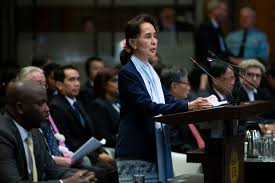 History will harshly judge Aung San Suu Kyi for her defense of genocide before the International Court of Justice, say Rohingya Muslims, speaking of Myanmar army atrocities against them. trib.al/XlWC7cB