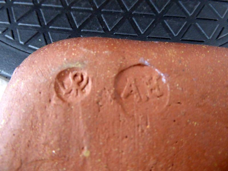 Winchcombe Pie Crust Rim slipware 14cm dish. AH potter's mark? ELl08HPWkAE7Duk?format=jpg&name=900x900