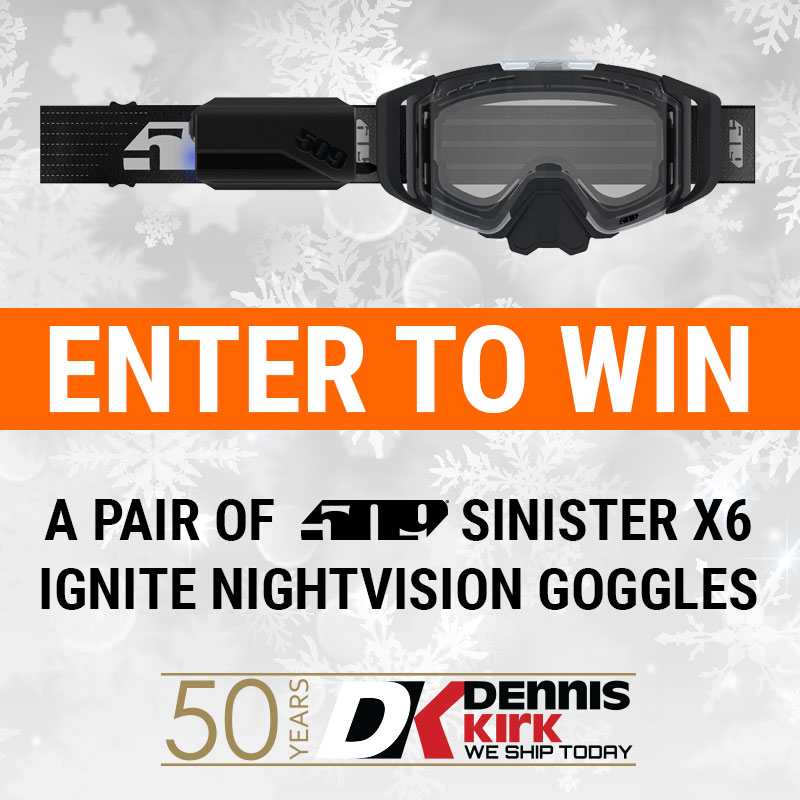 Have you entered to win these 509 Sinister X6 Ignite Nightvision Goggles! 🏆 If not, make sure to enter your email by December 31st using this link: https://t.co/1NGtySlUs5! Good luck! 🍀   *One entry per person. The winner will be contacted by email. #RideMoreWaitLess 🚚📦🏍️ https://t.co/sLLKa4a27s