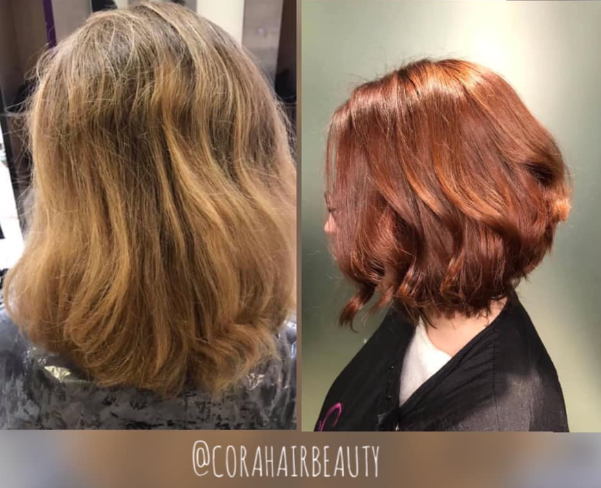 🔥It's warming up for #ThrowbackThursady  @corahairbeauty Salon Director, Fiona remembers this hot #copperhair makeover with  #kolestonperfect ME+ by #wellaprofessionals delivering even colour, depth & shine #askforwella #wellalife #purebalancechallenge #stylistsdoitbetter