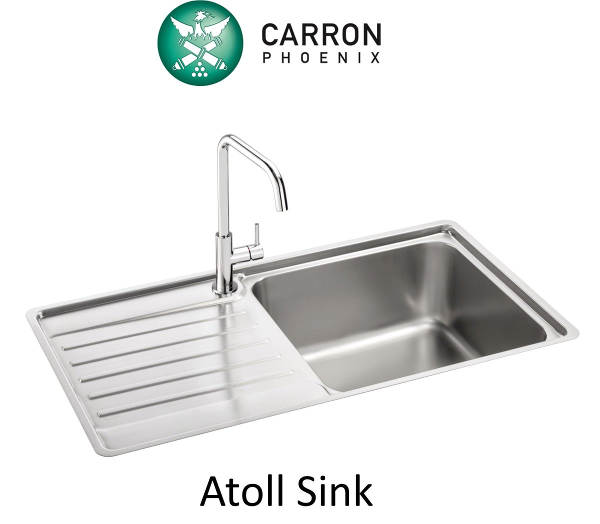 2019 Product Highlight Our Atoll stainless steel inset #sink with its generously large bowls and crisp drainer grooves is the perfect mix of high functionality and durable good looks. What's not to love? 😍 ow.ly/oaQ850xsx0R