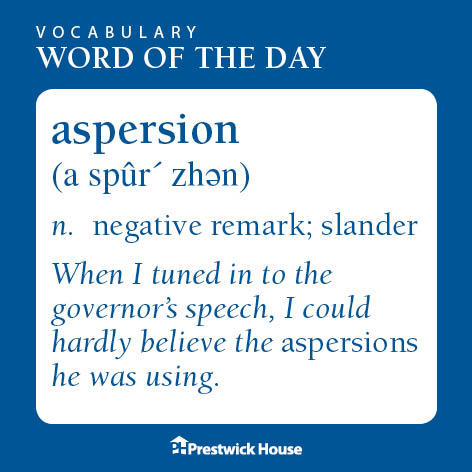 Our vocab Word of the Day is aspersion. Feel free to use these in your classroom! #vocabulary #engchat #PHVocab<br>http://pic.twitter.com/y9bXBohrtu