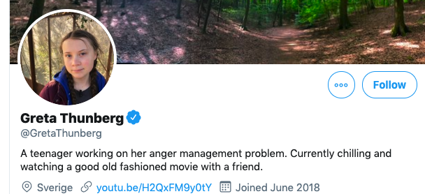 .@GretaThunberg responds to President Trump's bullying tweet with humor and class!