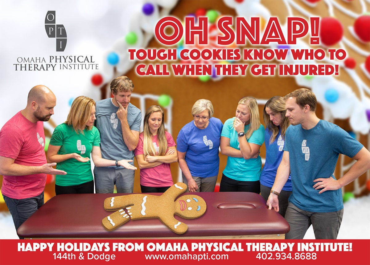 #TBT- 2018 Omaha Physical Therapy Institute Holiday Card!   #funny #fun #witty #silly #physicaltherapy #omaha #holiday #physicaltherapist #PTomaha #OPTI #bestPTomaha