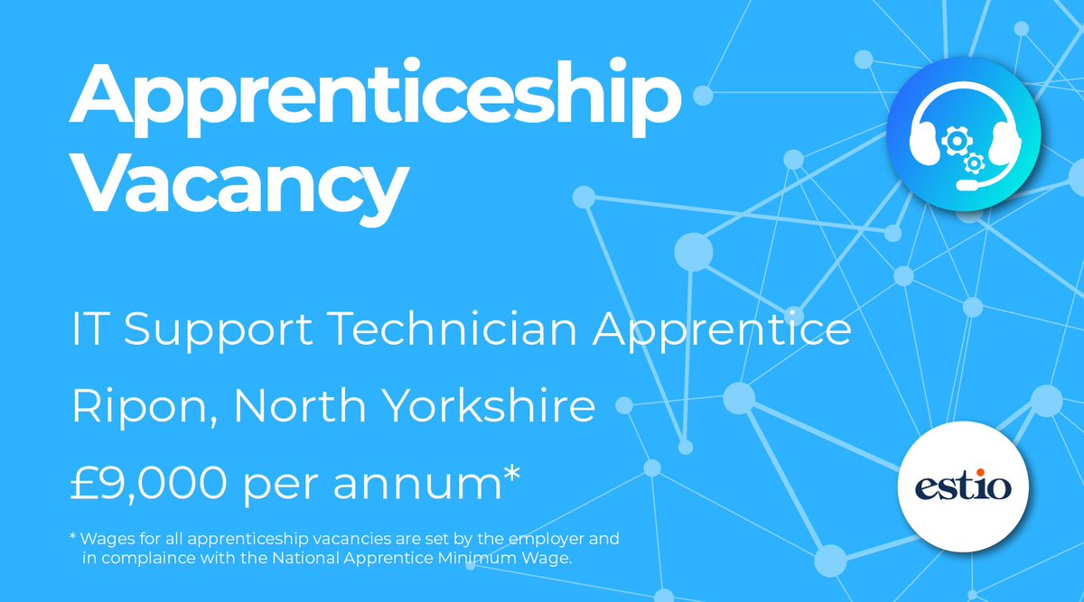 Are you driven and passionate to progress a career in IT? We're looking for an #ITSupportTechnician #Apprentice, to join a company in #Ripon #NorthYorkshire. You will work with other Technicians carrying out IT repairs on equipment. Apply now:  #ITSupport