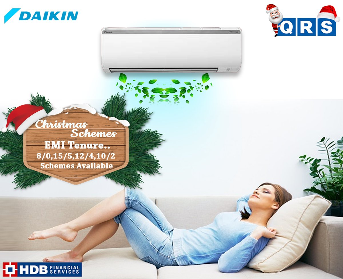 Experience a Refreshing #Air  Everyday. #DAIKIN  #AC  Visit #QRS