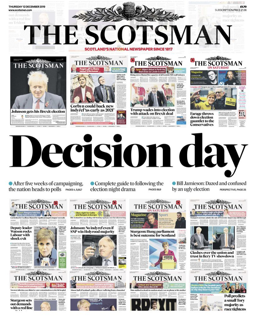 Unlike many others @TheScotsman does not tell you how to vote today - just vote #GE2019