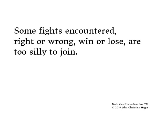 #haiku #fight #encountered #right #wrong #win #lose #silly #join