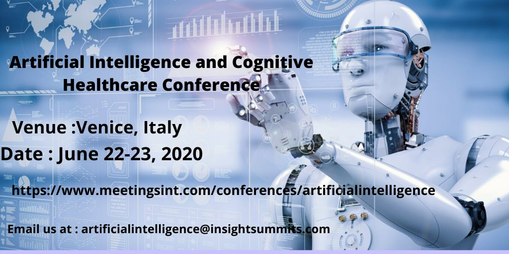 Dear Aspirants, its a warm welcome regarding the Artificial Intelligence 2020 Conference during June 22-23, 2020 at Venice, London. Please accept the invite and let us know your interest. Thank you. From Nova Twinkle, Email us at- artificialintelligence@insightsummits.com