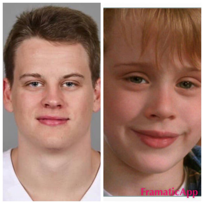 Like Ineeded another reason to love Joe Burrow. He is the 23 yo version of Kevin McAllister from Home Alone. @Joe_Burrow10 @LSUfootball #GeauxTigers  #CFBPlayoff  #youguysgiveup #orareyouthirstyformore<br>http://pic.twitter.com/c6OVUzlg4X