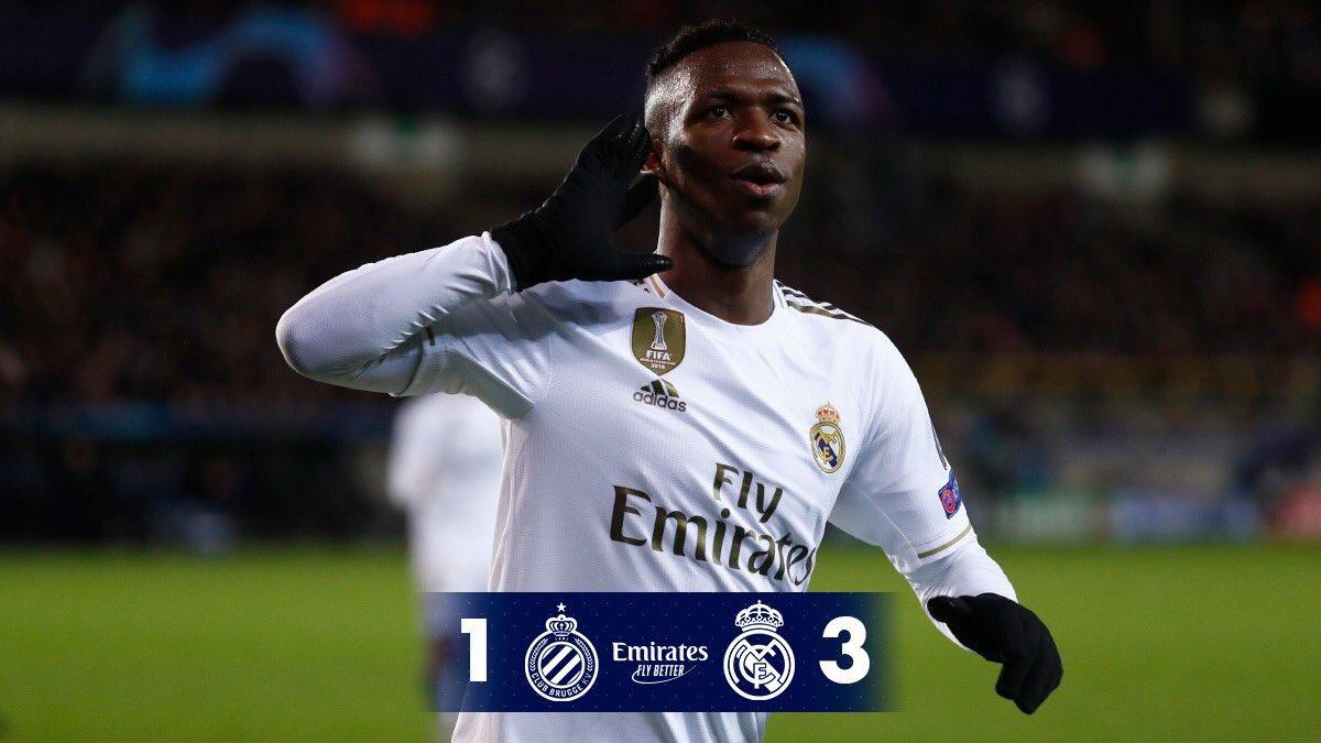 RT @FrLaliga: ⏰🚨 Club Bruges 1-3 Real Madrid   ⚽️ Rodrygo  ⚽️ Vinicius Junior  ⚽️ Luka Modric  ❌ Vanaken https://t.co/CtUPtFcUWm