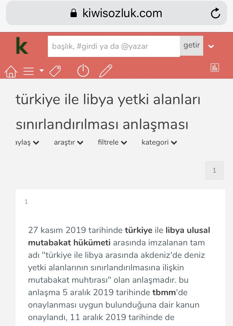 """""""Türkiye ile Libya yetki alanları sınırlandırılması anlaşması""""   https://www.kiwisozluk.com/662/turkiye-ile-libya-yetki-alanlari-sinirlandirilmasi-anlasmasi/  …  #akdeniz  #Mediterranean  #petrol  #doğalgaz"""