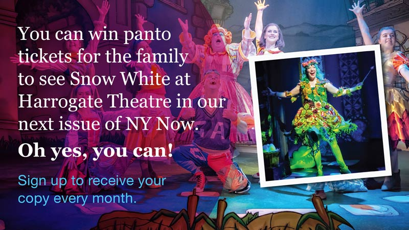 Our next edition of NY Now, our monthly newsletter, will be out soon. Sign up for your chance to win tickets for the whole family to see Snow White at @HGtheatre and receive news from around #NorthYorkshire.  Sign up here ⬇️