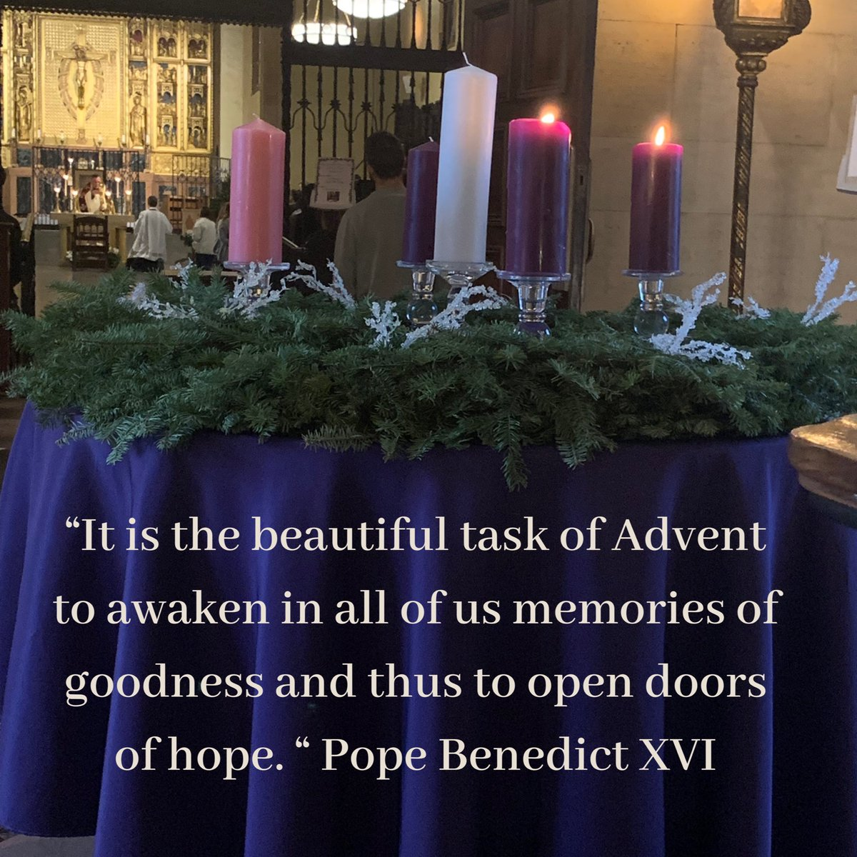 How is your Advent going? In the midst of holiday shopping and celebrations remember to take time to reflect on the real reason for season. #thinkingpriesthood pic.twitter.com/Cu8RYxQLVW
