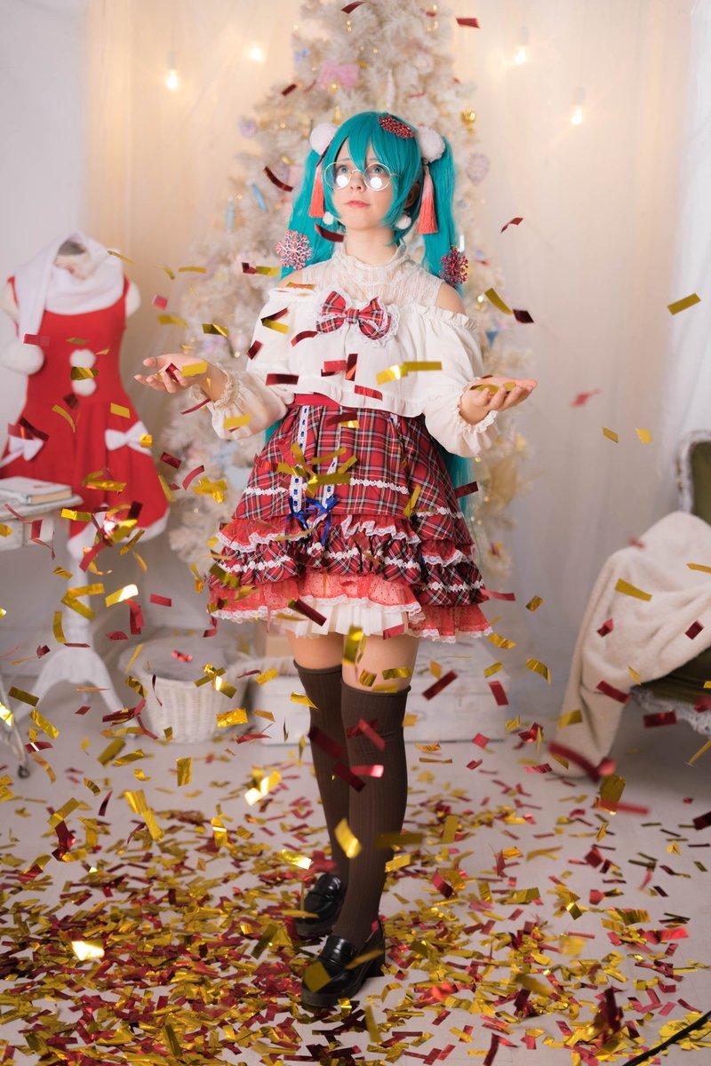 🎄クリスマス気分🎄#hatsunemiku #cosplay #初音ミク