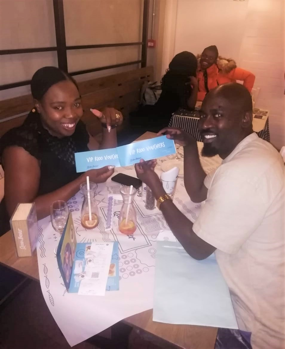 We finally reeled them in! South Africa's favourite solemates, Hector and Nonhlanhla, joined us for their first seafood date night on us! The lovely couple was relaxed and happy and we can't wait to see them in an Ocean Basket again. #KFCProposal   <br>http://pic.twitter.com/AiNe61EoG6