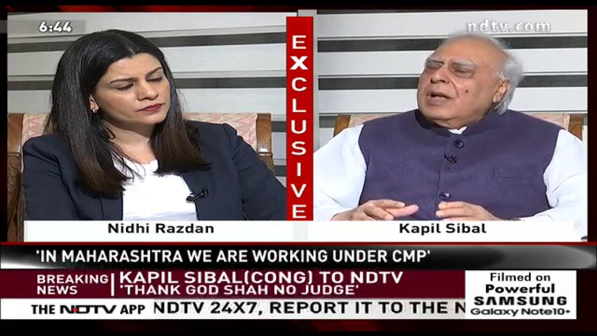 "#NDTVExclusive | ""This government takes actions and then realises that they are stuck"", Congress MP Kapil Sibal on #CitizenshipAmendmentBill. Follow live on http://ndtv.com  and NDTV 24x7"