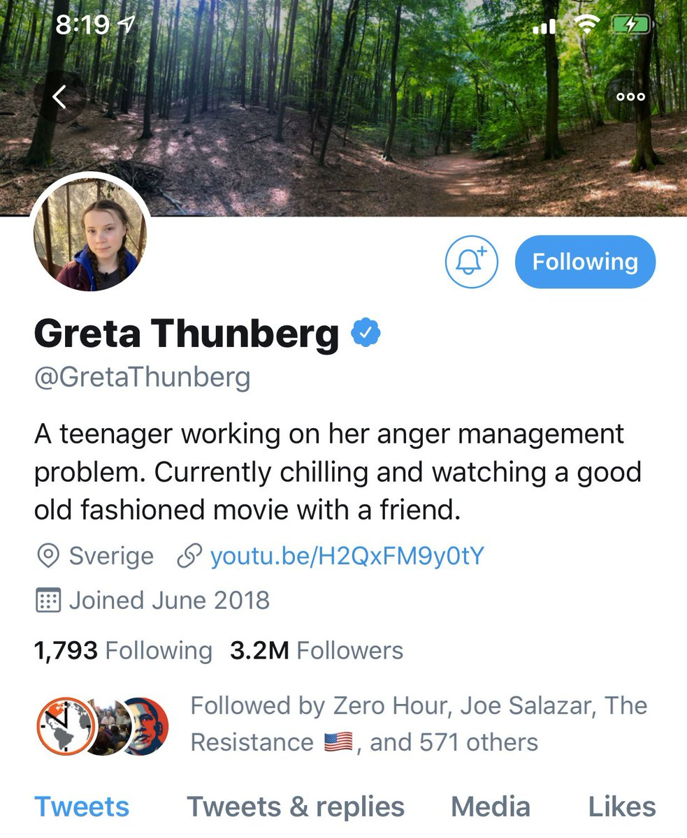 @realDonaldTrump It's like taking candy from a manbaby. Even a 16 year old can make you look like a moron... @GretaThunberg #GretaThunberg #Trump