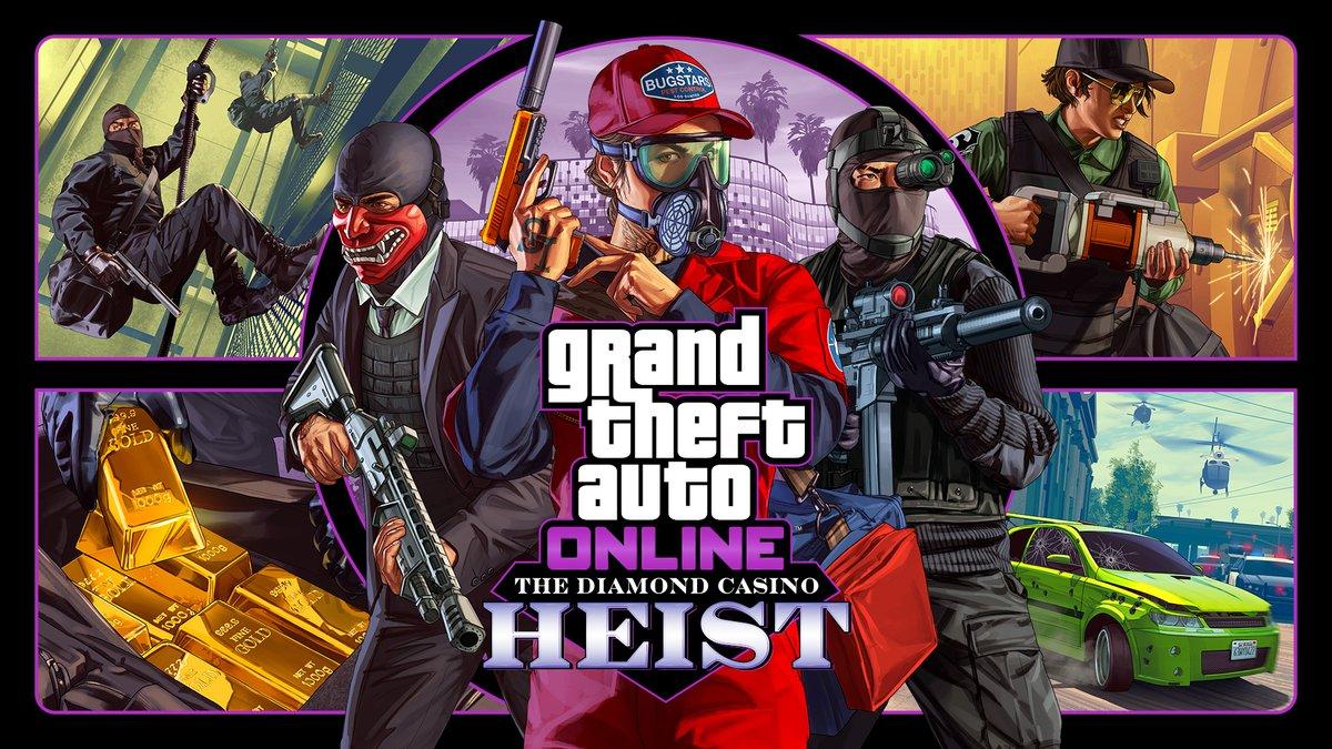 GTA Onlineın yeni soygun görevi The Diamond Casino Heist, oynanabilir hale geldi.  📜