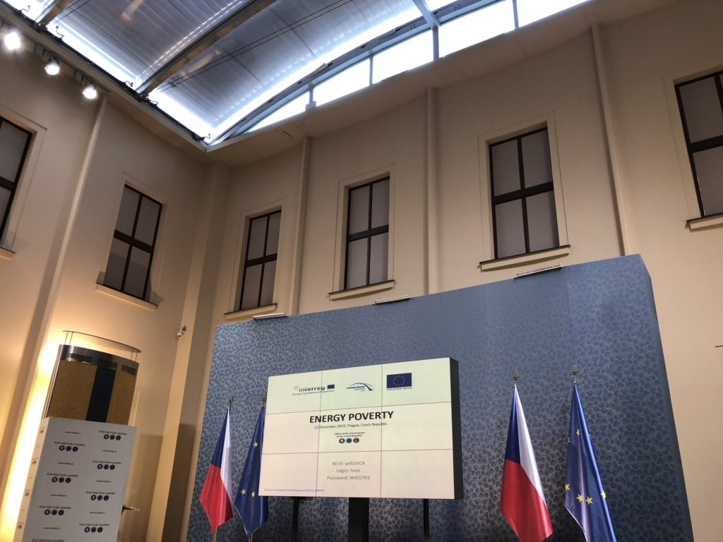 Our partner @stefanbuzar is attending the #EnergyPoverty seminar of the Sustainable Energy Priority Area of the EU Strategy for the Danube Region today in #Prague! Great opportunity to hear about our project and measures & methodologies implementation for tackling #energy poverty