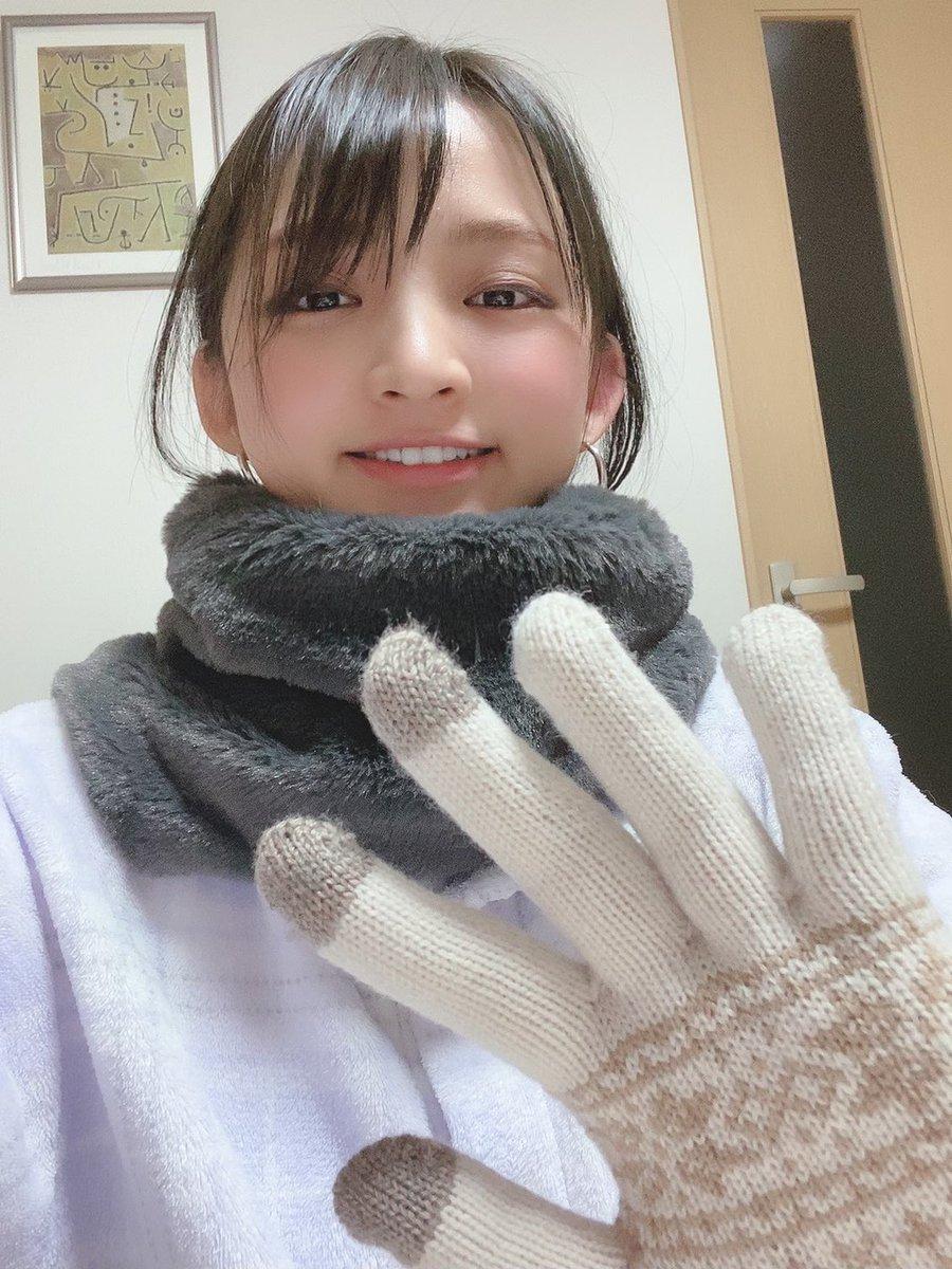 父がスヌードと手袋をクリスマスプレゼントってくれた!久しぶりの我が家のサンタさんありがとう🎅