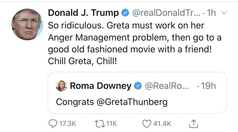 Greta responds.