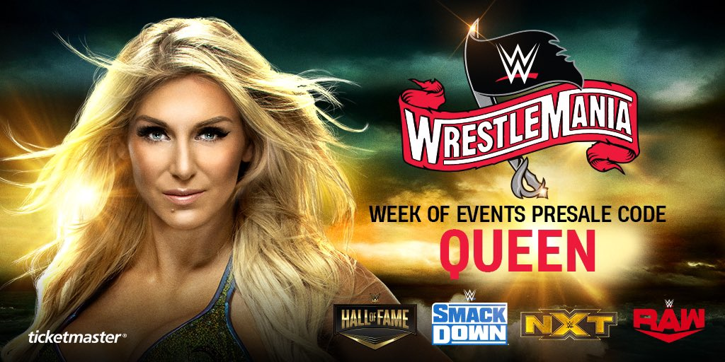 WOO! #WrestleMania week is coming to Tampa, Florida! Don't miss out on all the action! Get tickets to #WWEHOF, Friday Night #SmackDown, #NXTTakeOver and Monday Night #Raw now with presale code QUEEN https://www.ticketmaster.com/promo/q3z230