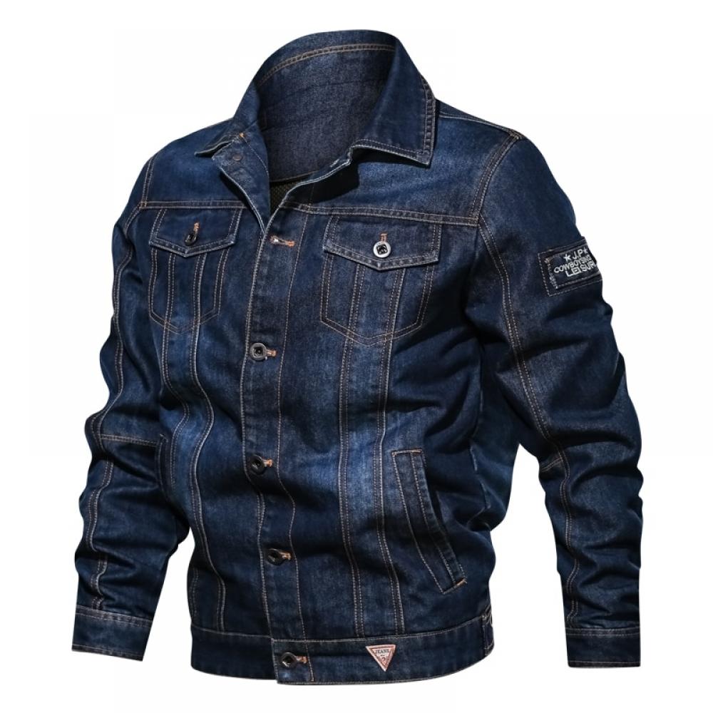 #menstyle Spring Autumn Denim Jacket Men's Lapel Embroidery Casual Mens Jeans Jackets Multi-pocket Male Cowboy Coats Bigig Size 6XL Solid <br>http://pic.twitter.com/eu11y8brWV