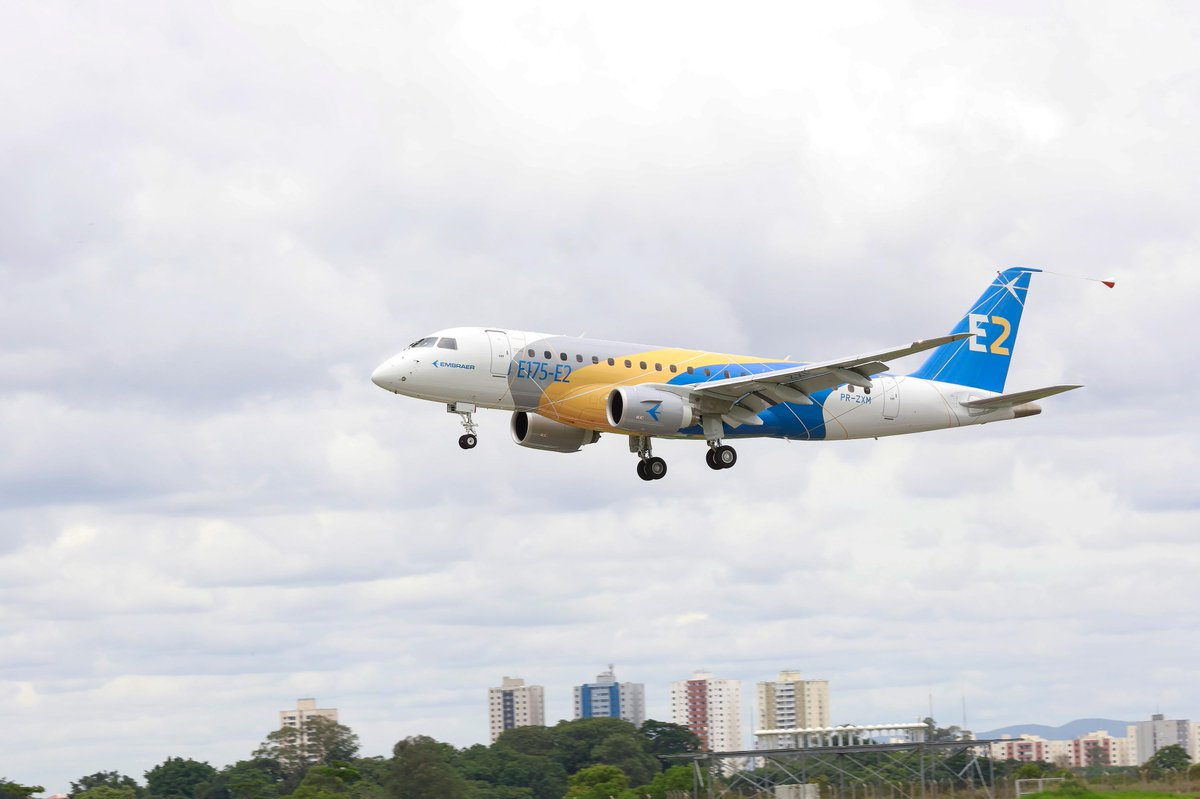 Congratulations @embraer for the #Embraer first flight of the #E175E2. https://t.co/PEoD0UtxPv