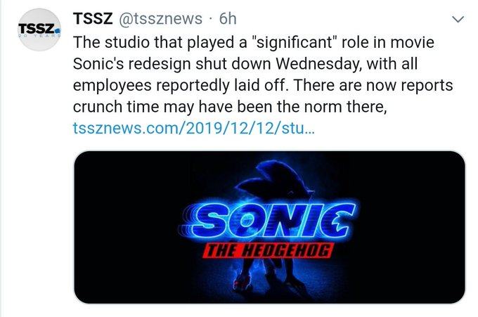 hey so, remember a few months back when I did a video talking about the abysmal treatment of animation/VFX teams, and my concern that the team behind the #SonicMovie redesign were going to be massively underpaid, overworked, and ultimately tossed aside?well guess what