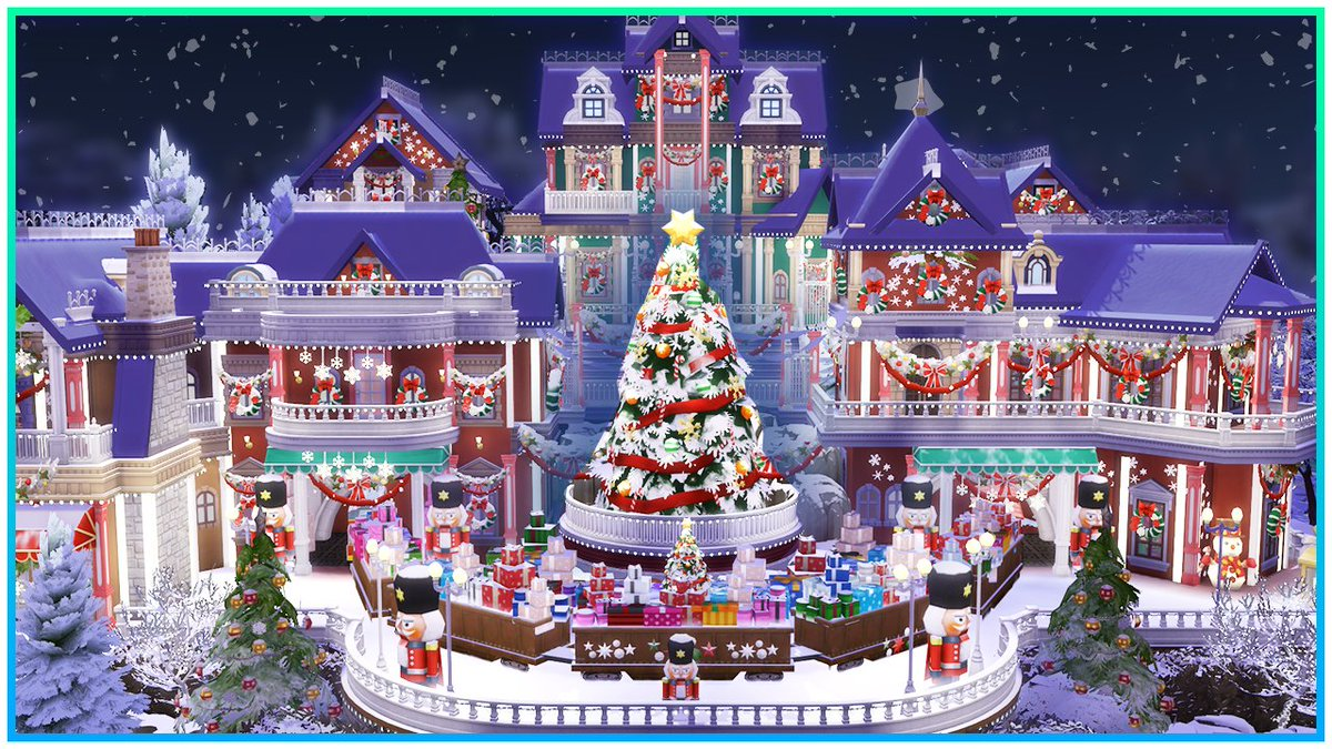 Kate Emerald On Twitter New Speed Build Https T Co F5tcpv0yom I Built A Christmas Village On A 50x50 Lot In Willow Creek Id Kateemerald Lot Xmas Wonderland Village No Cc Showusyourbuilds Sims4 Thesims