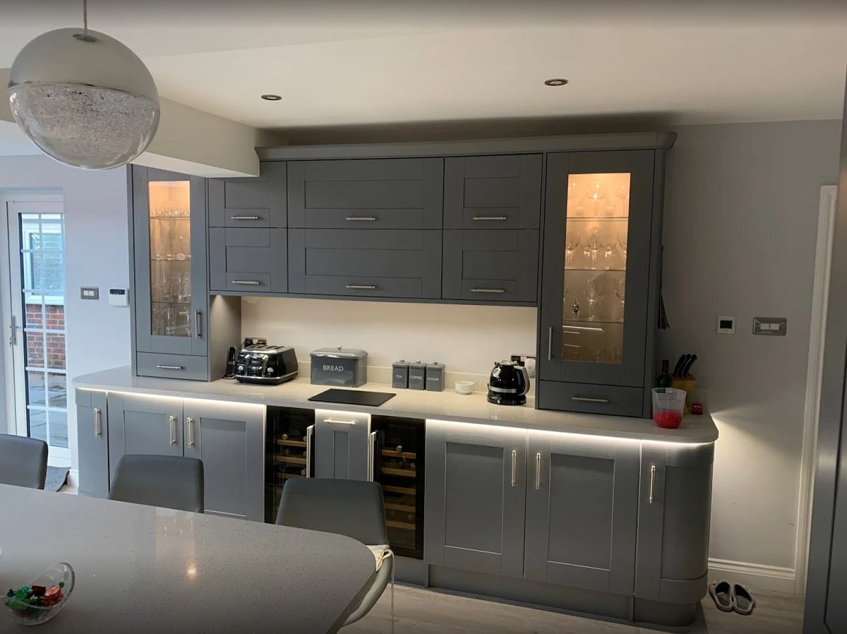 Benchmarx Kitchens Joinery Sur Twitter Stunning Somerset Grey Kitchen With A Steel Quartz Worktop The Strong Bold Tones Of Grey Painted Timber Make This Kitchen Stand Out From The Crowd