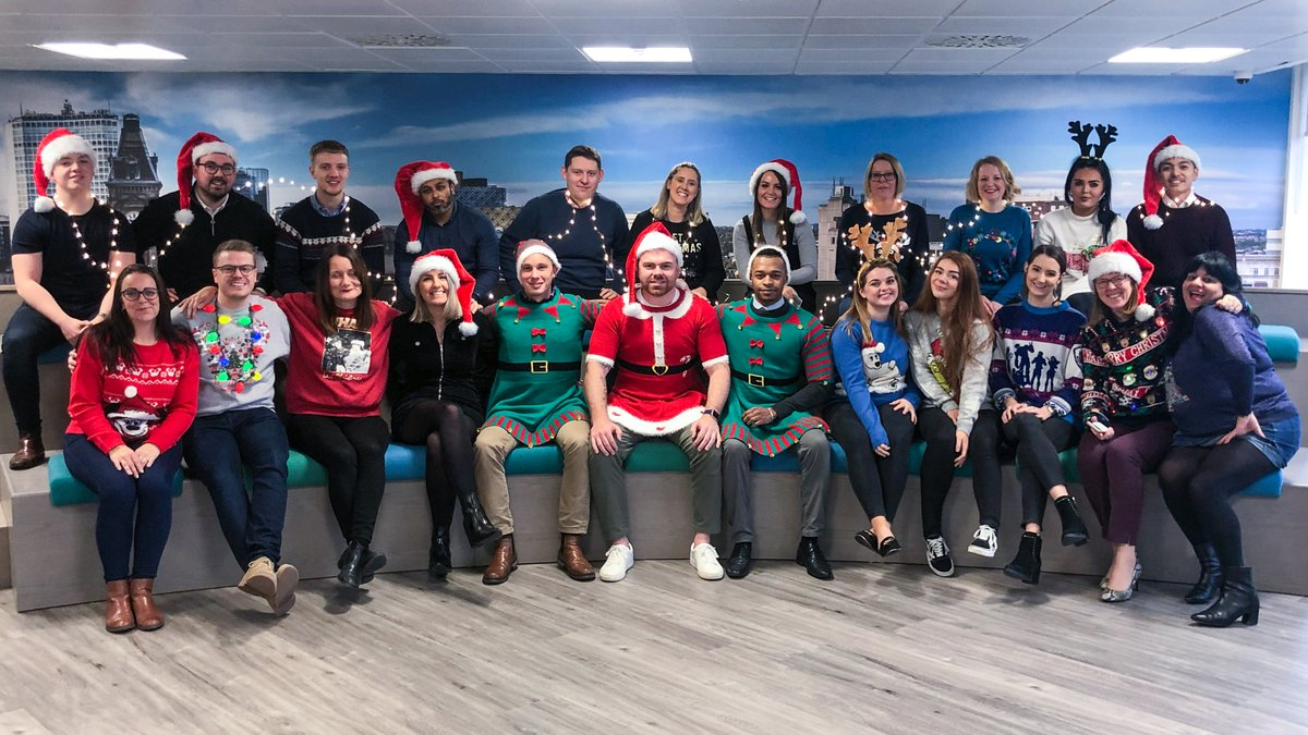 Since we engage in a 4.5-day working week, we decided to celebrate @savechildrenuk's Christmas Jumper Day a day early. #christmasjumperday #xmasjumperday #christmasjumper #workwithglee <br>http://pic.twitter.com/VdHjEDL0De