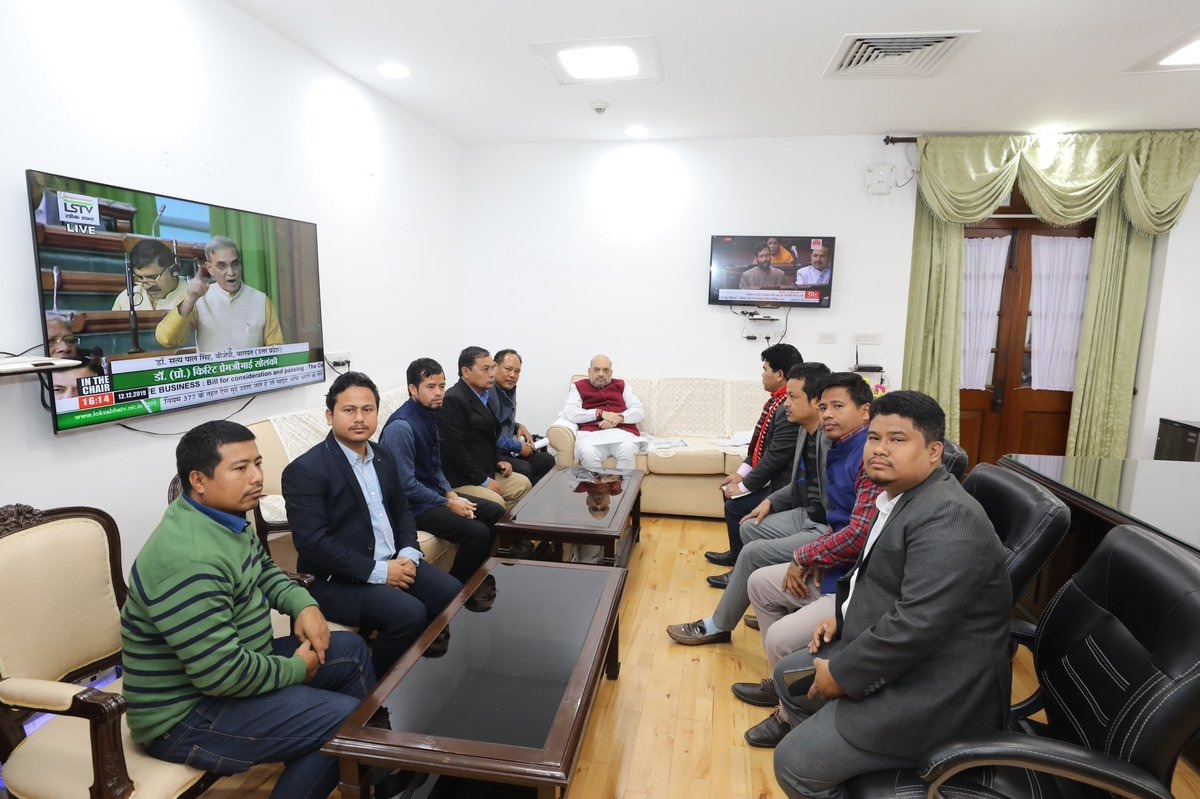 Met with delegations of IPFT and Joint Movement Against CAB from Tripura and discussed their concerns over CAB. Modi government will try to solve their issues in a positive way.I thank them for their appeal to maintain peace and call off the strike.