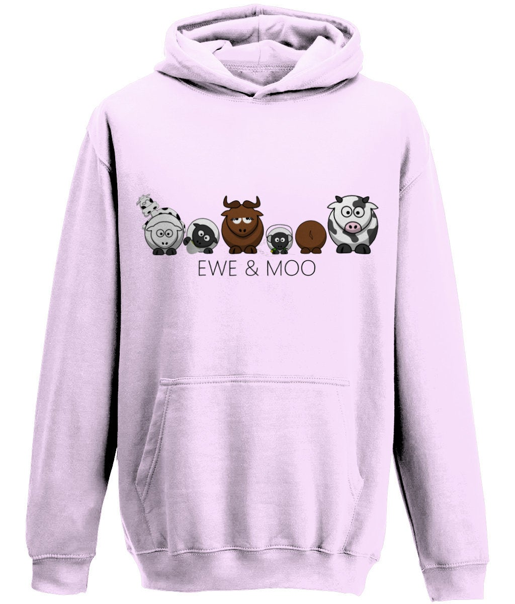 "Personalised Kids Hoodie ""EWE&MOO"", Hoodie, Jumper, Cardigan, Cow Hoodie, Animal Hoodie, Sheep Hoodie, Cotton Hoodie  #gifts #lakedistrict #london #giftsforher #giftideas #Handmadefurniture #Phonecases #Clothing #sheep #Cow"