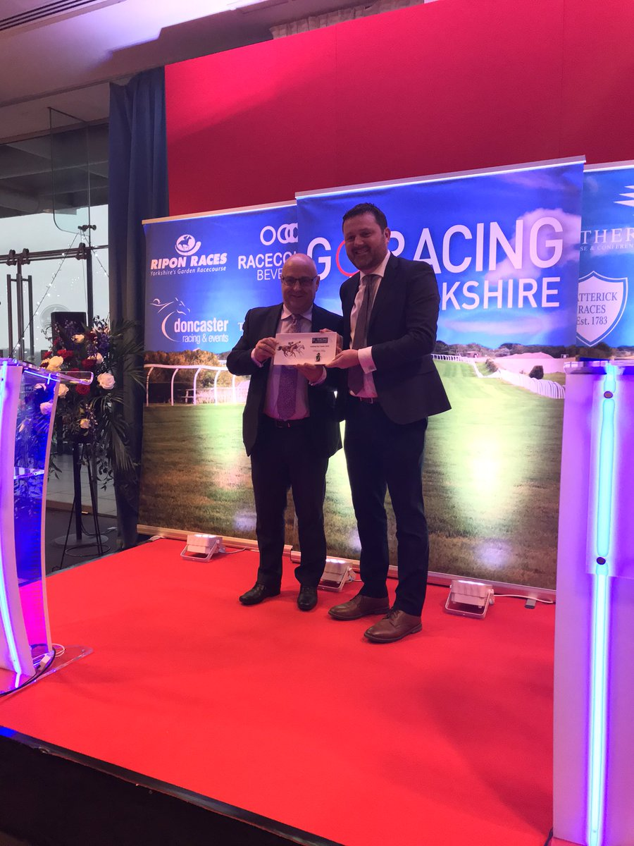 Congratulations to @RichardFahey - Yorkshire Flat Trainer of the Year 🏅 #GRIYAnnualAwards