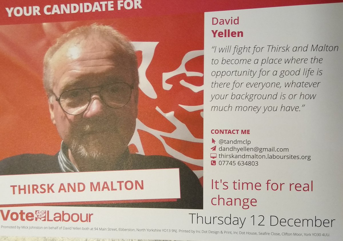 There's still time to vote for change in #Thirsk and #Malton 👍 Proud to have voted #Labour @tandmclp for a better society for all.  #GE2019 #VoteLabourDecember12 #NorthYorkshire #Yorkshire