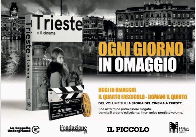 """+++OGGI IN EDICOLA IN REGALO con  @il_piccolo il quarto fascicolo di """"Trieste e il cinema"""". Non perdetevelo!+++"""