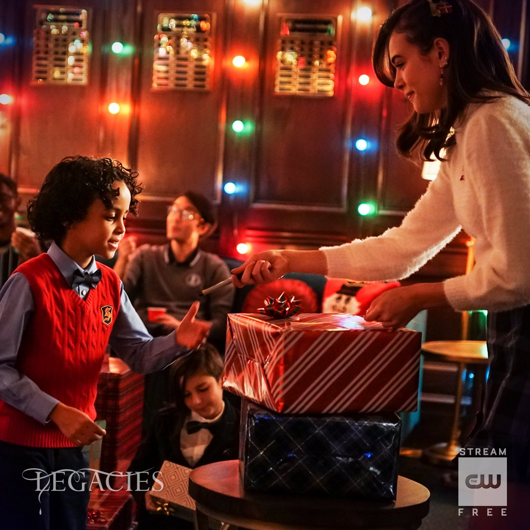 Get into the holiday spirit during the midseason finale tonight at 9/8c! Stream free tomorrow on The CW App. #Legacies