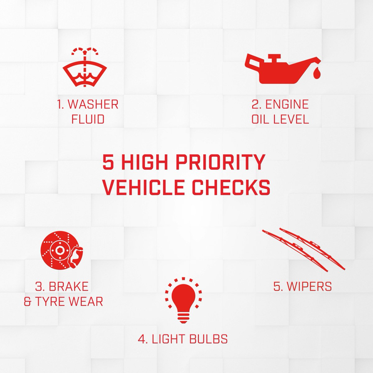 Before heading out onto the open road this December, here are 5 high priority vehicle checks we recommend for #safety and performance! https://t.co/SRAQK8jUZL