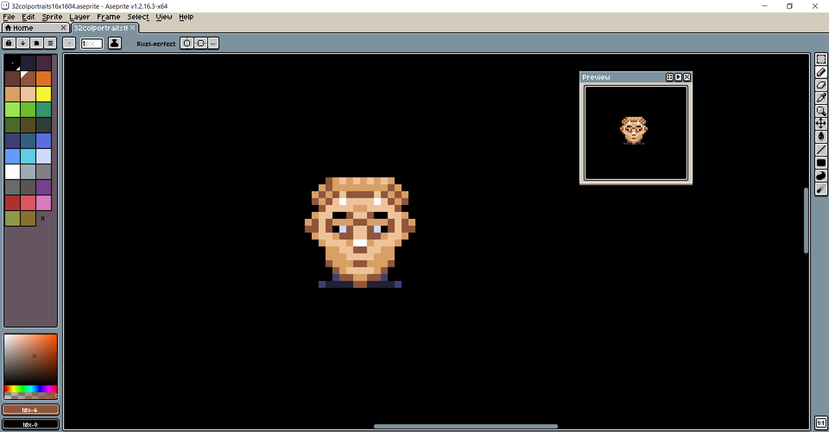 And back to trying to get the best possible 16x16px portraits from references of #amiga #speedball2 #db32pic.twitter.com/LjRcUxshBC