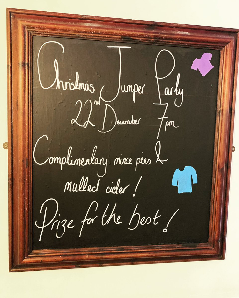 That's right people!  DECEMBER 22nd it's our CHRISTMAS JUMPER PARTY!! 🎉   7pm, come on down in your best Christmas clobber and get some mulled cider and mince pies down ya. 🍻🍽  Prize for the best one? Of course 👀 #christmas #festivities #xmas #christmasjumper #party #drinks